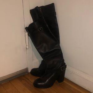 Black knee high ash boots
